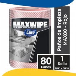 ROLLO 80 PAÑOS MAX 80 ROJO...
