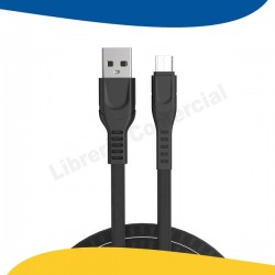 CABLE MICRO USB 2.4A NEGRO...