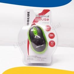 MOUSE OPTICO 3D GREEN USB...