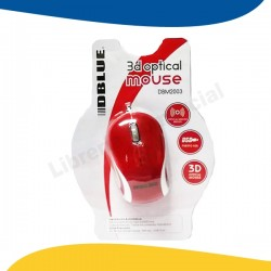 MOUSE USB OPTICO 3D RED DBLUE